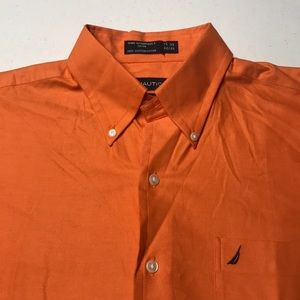 NAUTICA Orange Long Sleeve Dress / Oxford Shirt